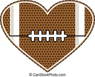 hjerte, fodbold, konstruktion