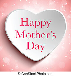 hjerte, glade, dag, baggrund, mor