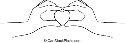 hjerte, hånd ind hånd