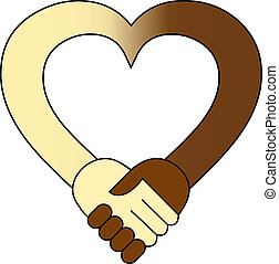 hjerte, hånd ryst