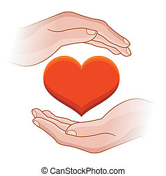 hjerte, hænder