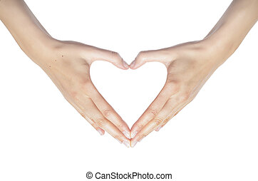 hjerte, hands.