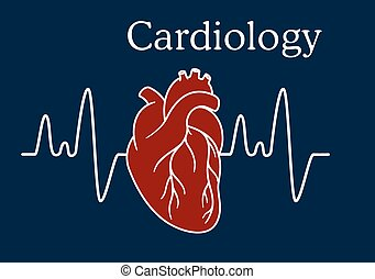 hjerte, hyppighed, menneske, bølge