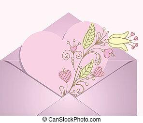 hjerte, konvolut