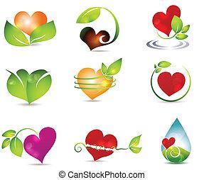 hjerte, natur