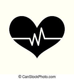 hjerte, omsorg, ikon