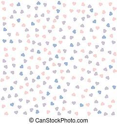 hjerte, pattern., seamless