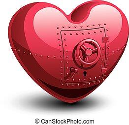 hjerte, pengeskab