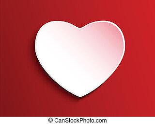hjerte, rød, dag, baggrund, valentine