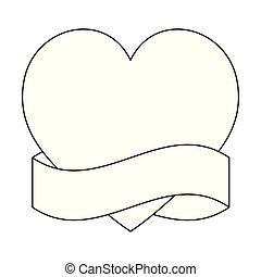 hjerte, ramme, constitutions, bånd