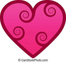 hjerte, swirls