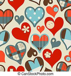hjerter, seamless, mønster