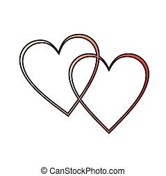 hjerter, to