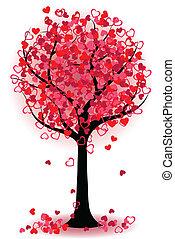 hjerter, træ, valentine