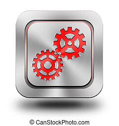 hjul, aluminium, knapp, glatt, ikon, underteckna