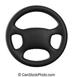hjul, avbild, isolerat, bakgrund., vit, styrning, 3