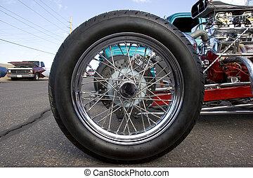 hjul, bil, årgång