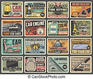 hjul, fordon, reservdelar, motor, däck, bil