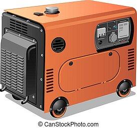 hjul, generatorer, magt