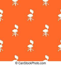 hjul, mönster, apelsin, vektor, liten, stol