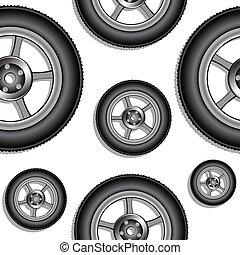 hjul, mønster