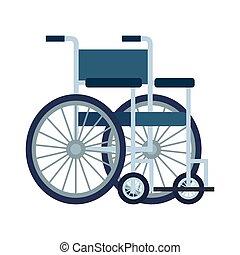 hjul stol, isolerat, ikon