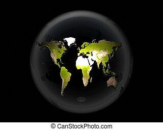 hlína, bublina