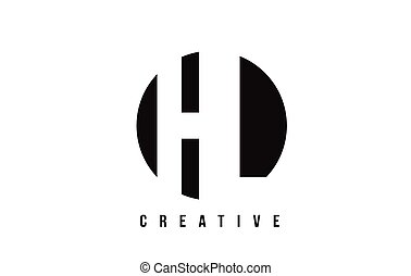 HL H L White Letter Logo Design with Circle Background. - HL...