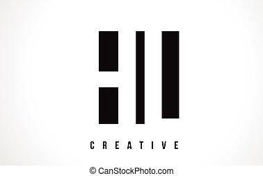 HL H L White Letter Logo Design with Black Square. - HL H L...