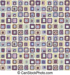 hladký, čtverec, vektor, seamless, model, čistý, style., jako, backgrownd, textilie