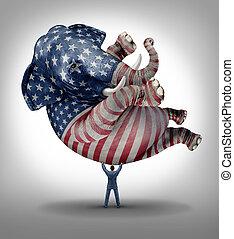 hlasovat, americký, republikánský