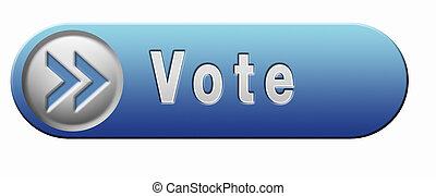 hlasovat, ikona