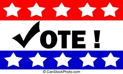 hlasovat, ilustrace