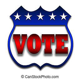 hlasovat, odznak