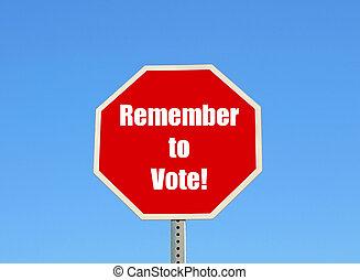 hlasovat, pamatovat si