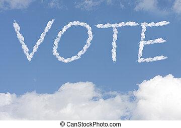 hlasovat, tvůj, sebevědomý