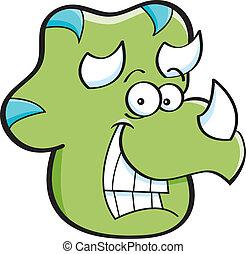 hlavička, triceratops