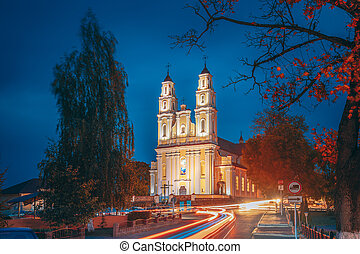 Hlybokaye Or Glubokoye, Vitebsk Region, Belarus. Church Of ...