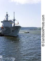HMNB Devonport - Warship in Her Majestys Naval Base...