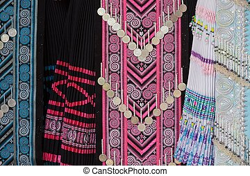 hmong tribe clothes - traditional Hmong tribe clothes in...
