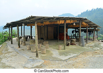 Hmong's house in Sapa, Vietnam