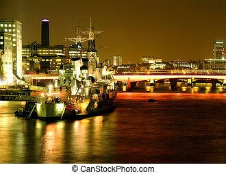 HMS Belfast - Warship on the river Thames