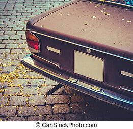 hněď, seventies, vůz