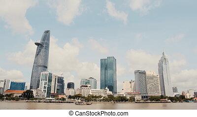 Ho Chi Minh City. Day timelapse. Vietnam. (Shot in 4K -...