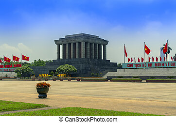 Ho Chi Minh Mausoleum in Hanoi.