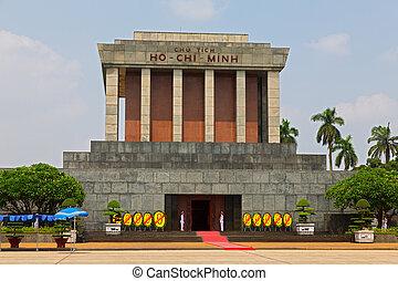 Mausoleum - Ho Chi Minh Mausoleum in Hanoi, Vietnam