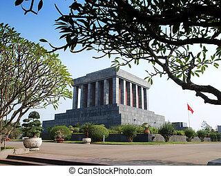 Ho Chi Minh Mausoleum, tourist attaction in Hanoi, Vietnam.