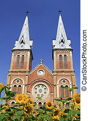 The Notre Dame Cathedral at Ho Chi Minh City in Vietnam