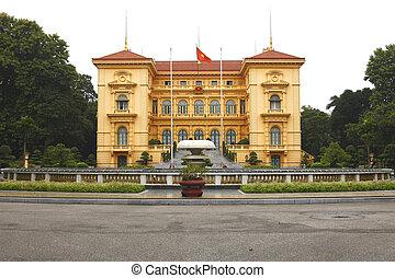 Ho Chi Minh, Presidential Palace in Hanoi, Vietnam