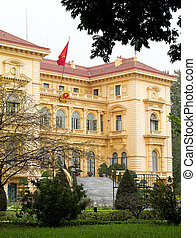 Ho Chi Minh, the Presidential Palace in Hanoi, Vietnam